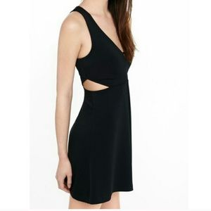 Express Black Mini Dress with Cut Out Details